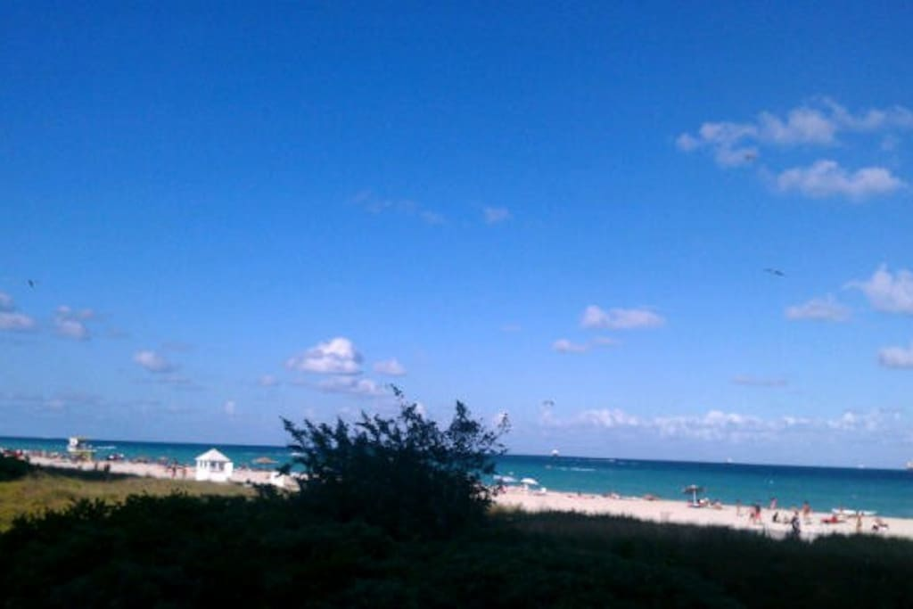 view of beach from oceanfront/beachfront pool