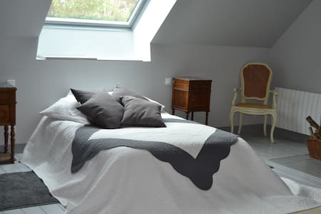 """Bedroom in """"Pays des Haras"""" E - Bed & Breakfast"""