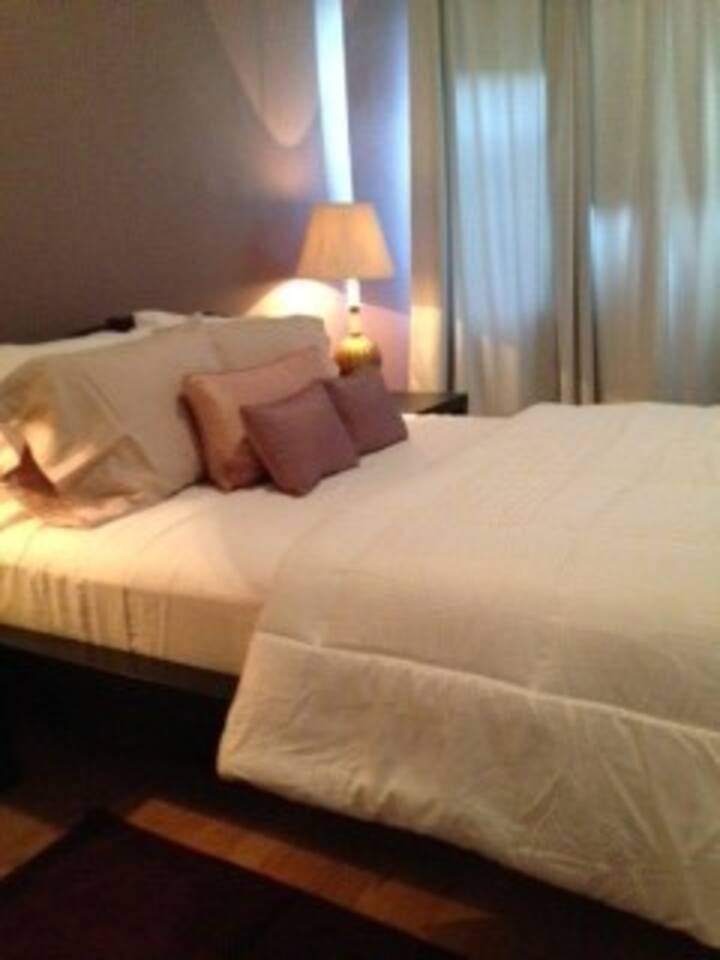 Master Bedroom with Lux Queen Mattress !