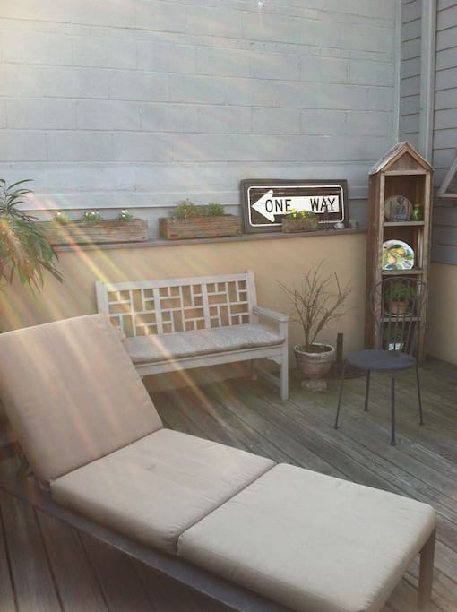Enjoy the deck, Spring is here!