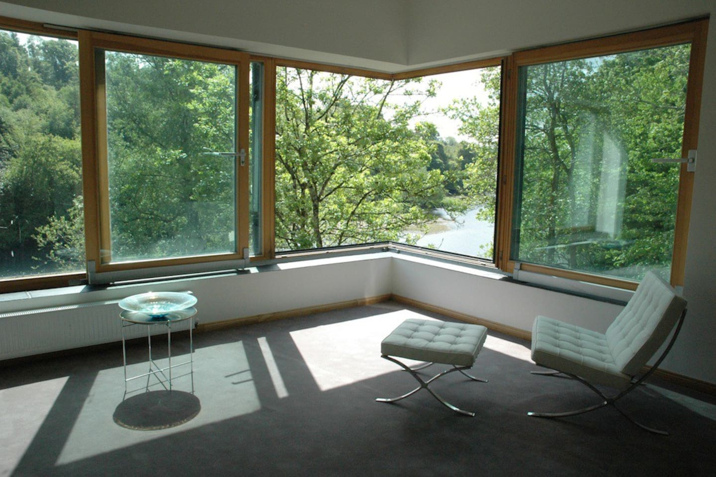 View from the south-facing River Room (ie this listing)