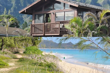Island Beach Cottage/Ocean view/Air-conditioning - Waimanalo - Bungalow