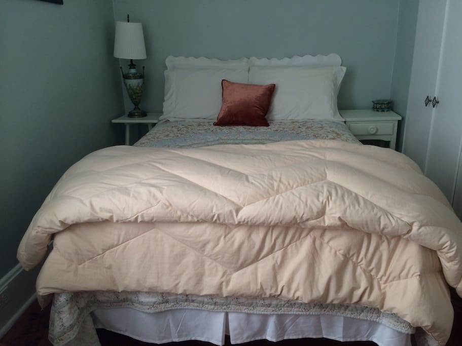 Front view of the bed
