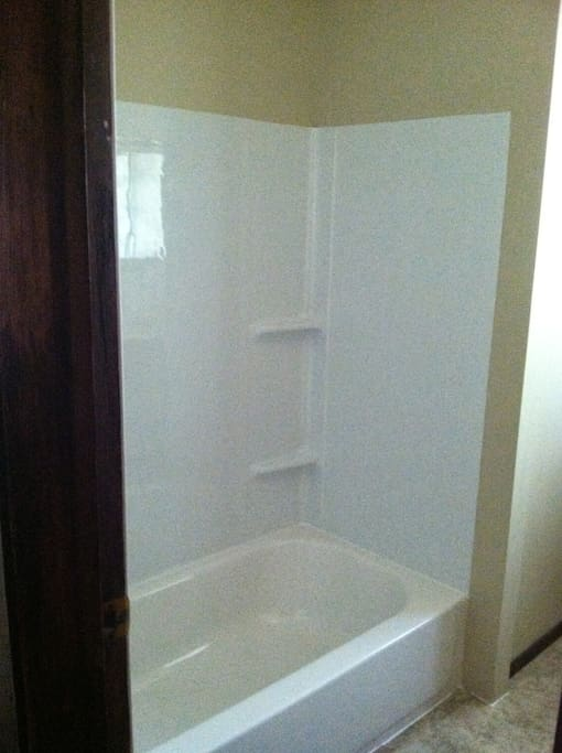 Shower has been newly refinished