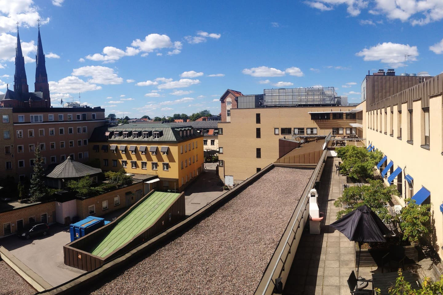 View from your window over the roof terrace, free for you to use.