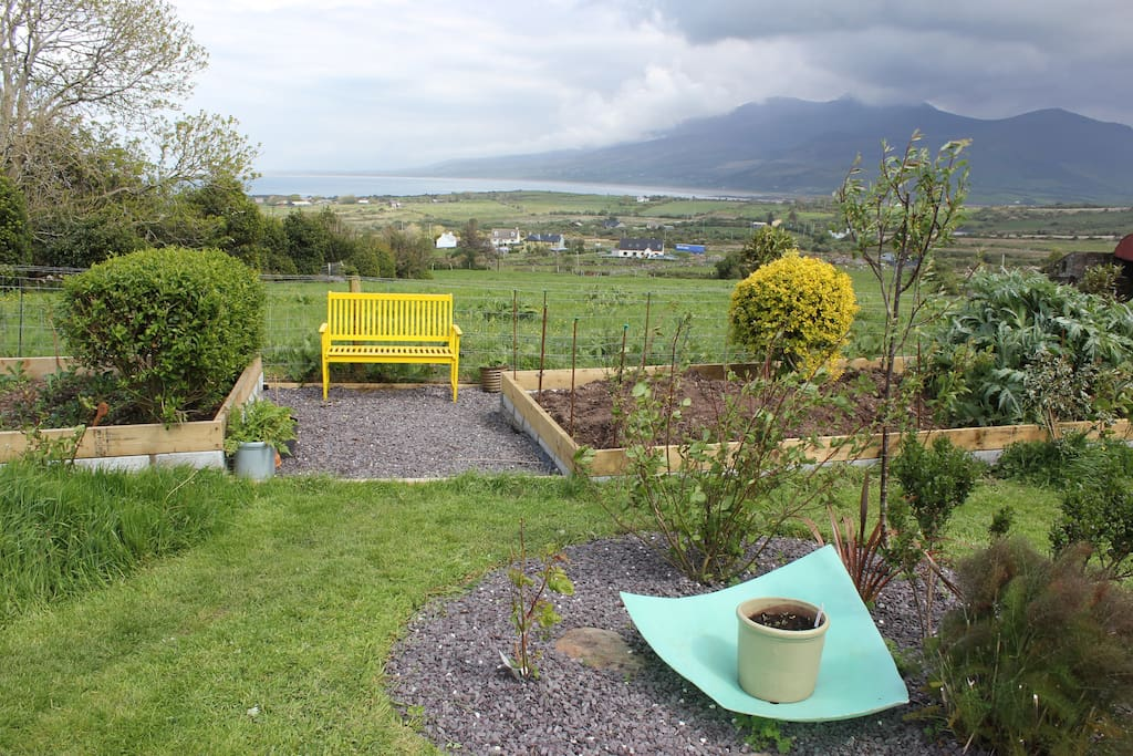Brandon Bay and the mountains from the garden - much closer than they seem here!
