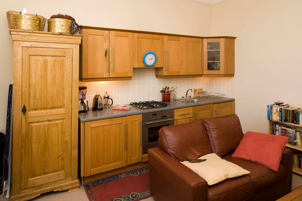 Kitchenette, small and well appointed.