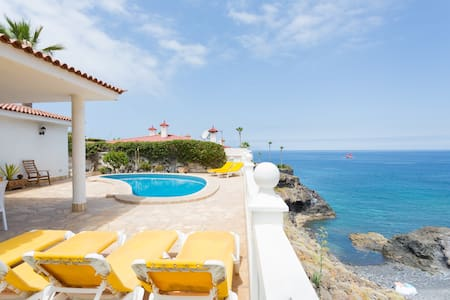 Villa + heated pool and Ocean view - Santiago del Teide - Casa de campo