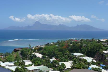 Chambre à Tahiti vue sur Moorea. - Punaauia - Apartment