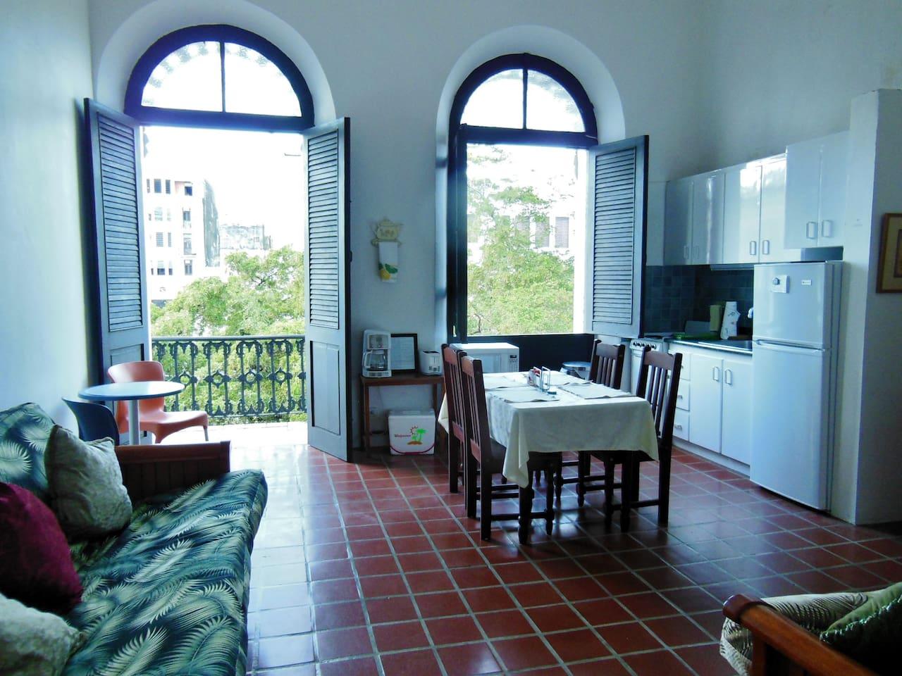 Spacious apartment &  natural light