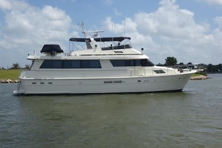 70' Hatteras Motor Yacht South Shore Marina - Boot