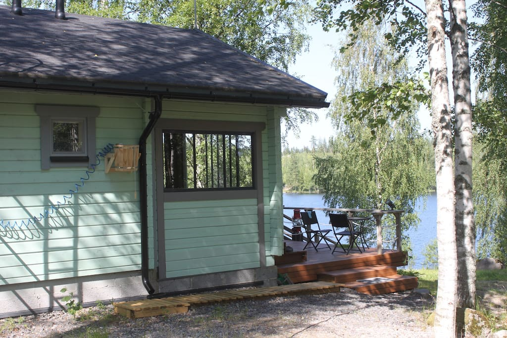 Cottage at the lake shore