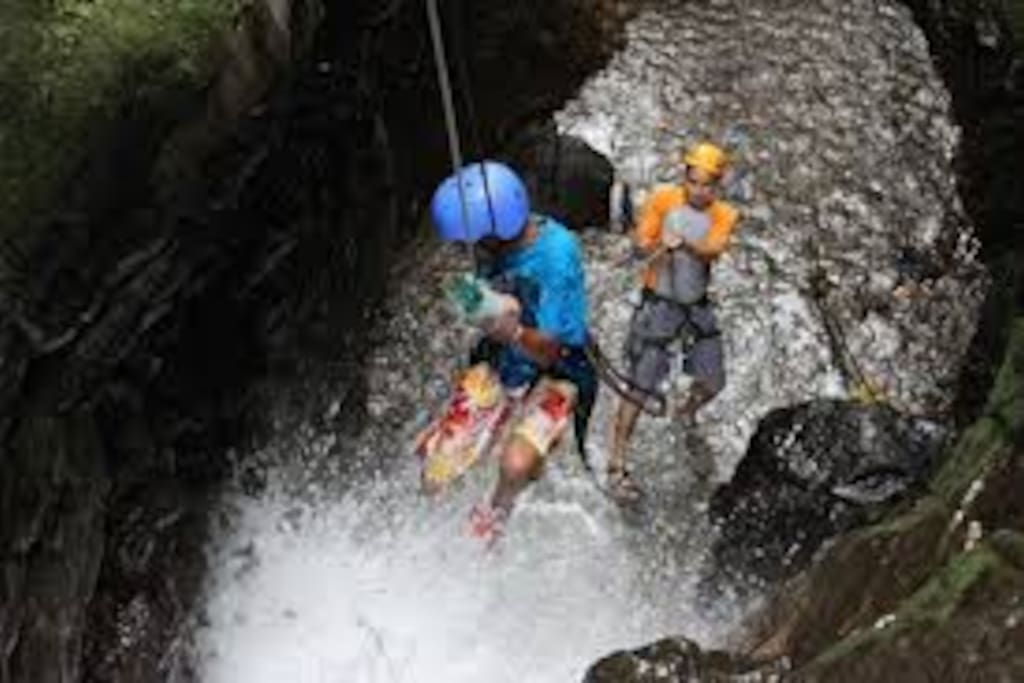 Canyoning , like in the Alps or the Rockys,... but the water has  25 ° Celsius!!!!!!