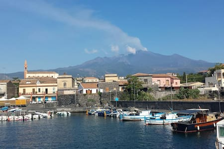 Amazing Etna view near the sea