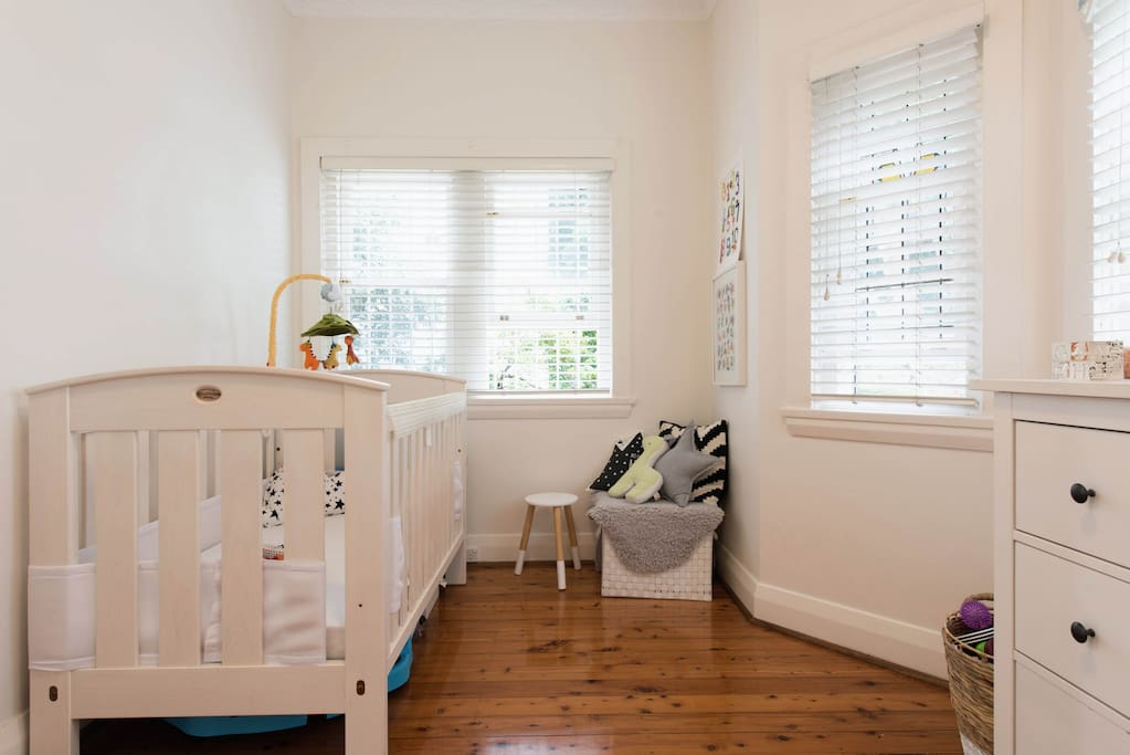Fully nursery set up, cot, change table, high chair & pram available