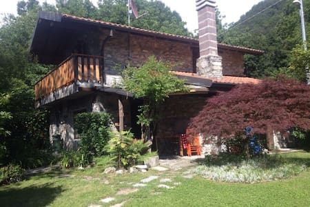 panoramica villa in pietra - Schignano