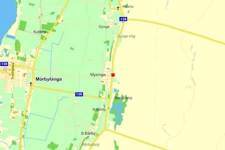 Gästhus under fågelsträcken Mörbylånga vid Alvaret - Mysinge - Blockhütte