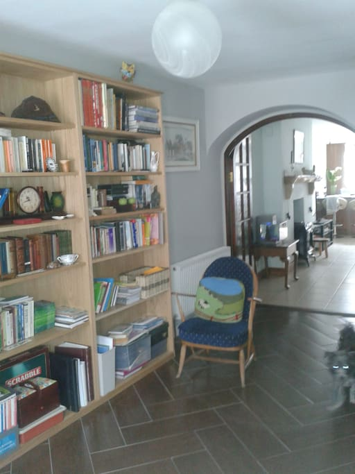 My book room is a haven of peace.