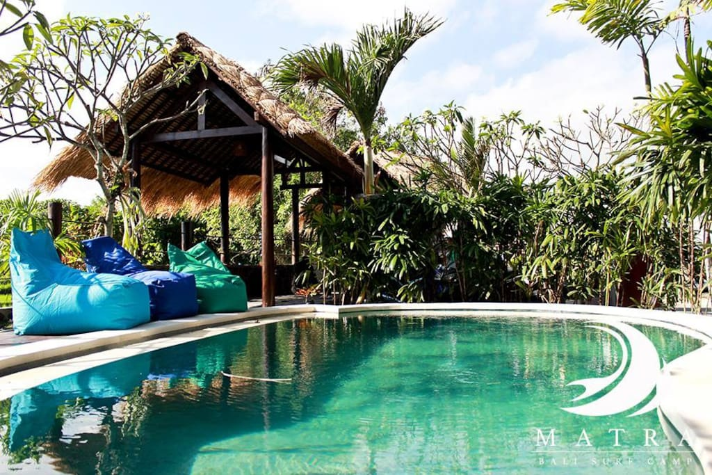 Rice field view cozy space & pool