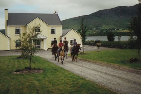 We are on the Wild Atlantic Way, on the Ring of Kerry and on the waterfront - believe it - come and see for yourself ! Our Location is 1 mile from the town of Cahersiveen on the N70 We love having guests and have been doing this for quite some time.  Our other listings, B&B on the Ring of Kerry Coast; the Final Furlong Farmhouse B&B; The Final Furlong Bed & Breakfast
