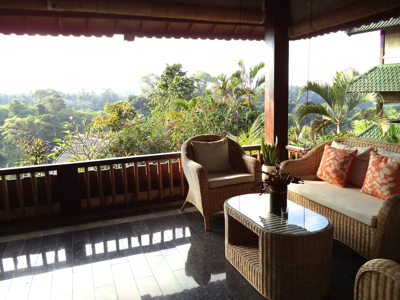 Enjoy breakfast on your private balcony.