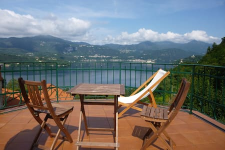 Penthouse Lago d'Orta with terrace - Corconio - Lejlighed