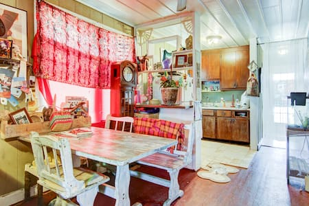 Bohemian Beach Treehouse Blue Room