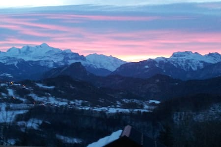 Panorama exceptionnel/Mont Blanc - Onnion - Apartmen