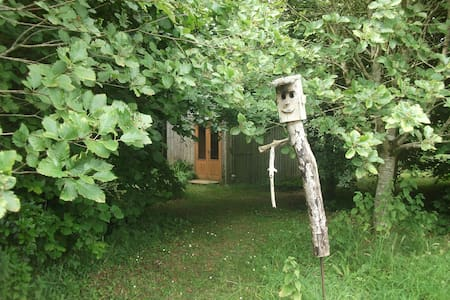 Just 4 miles from Kinvarra village at the Amber Healing Centre. Chalet has en-suite bathroom and bunk beds with a double bed on upper level with ladder access offers peace, quite and tranquility in a rural, wooded setting a short walk from the ocean