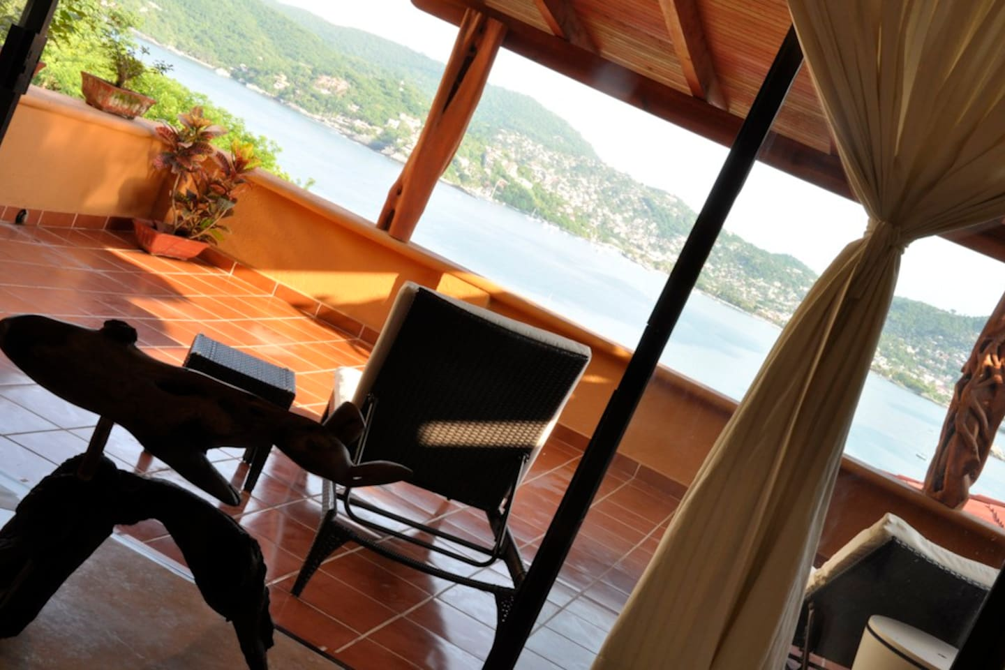 Enjoy the view from our private terrace
