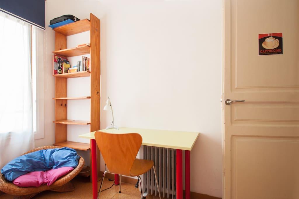 vista de la habitación individual