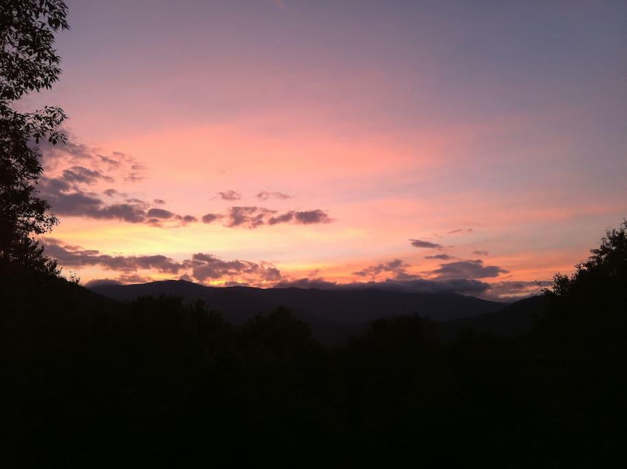 Sunset over Sugarbush