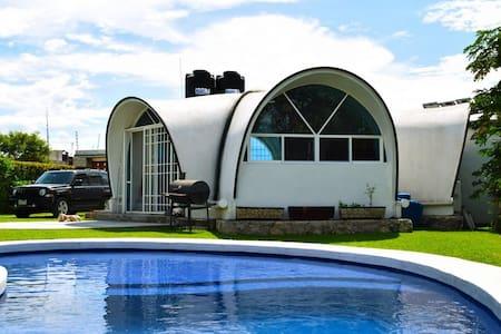 Casa Ecológica y Sustentable con piscina y bar. - Yautepec de Zaragoza  - Rumah