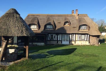 Chaumière normande cheminée - Vatteville-la-Rue