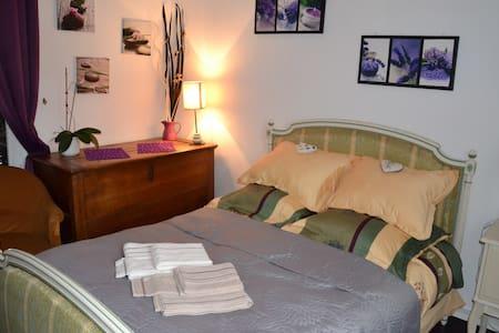 Chambre lavande cosy - Villennes-sur-Seine