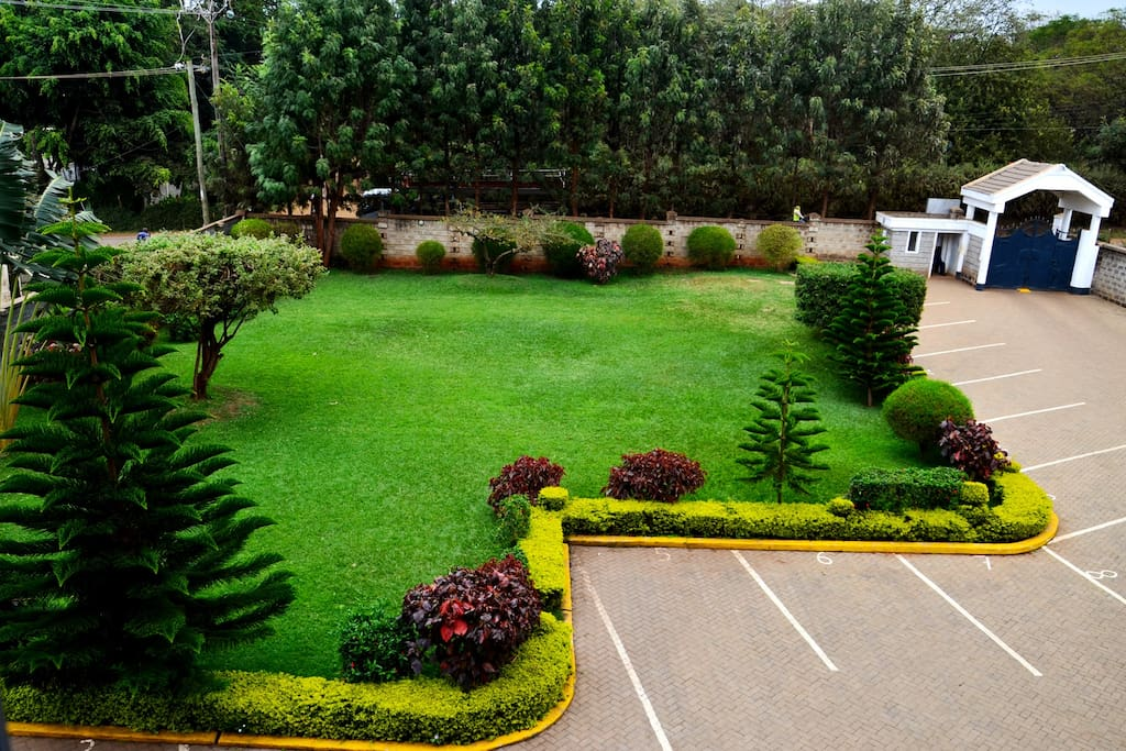 Large manicured private garden