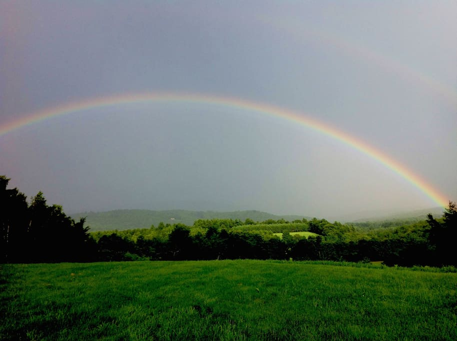 A magical rainbow from the property (summer photo).