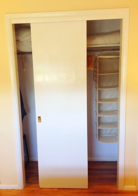 Considering a longer stay? You'll appreciate the ample storage afforded by your large closet.