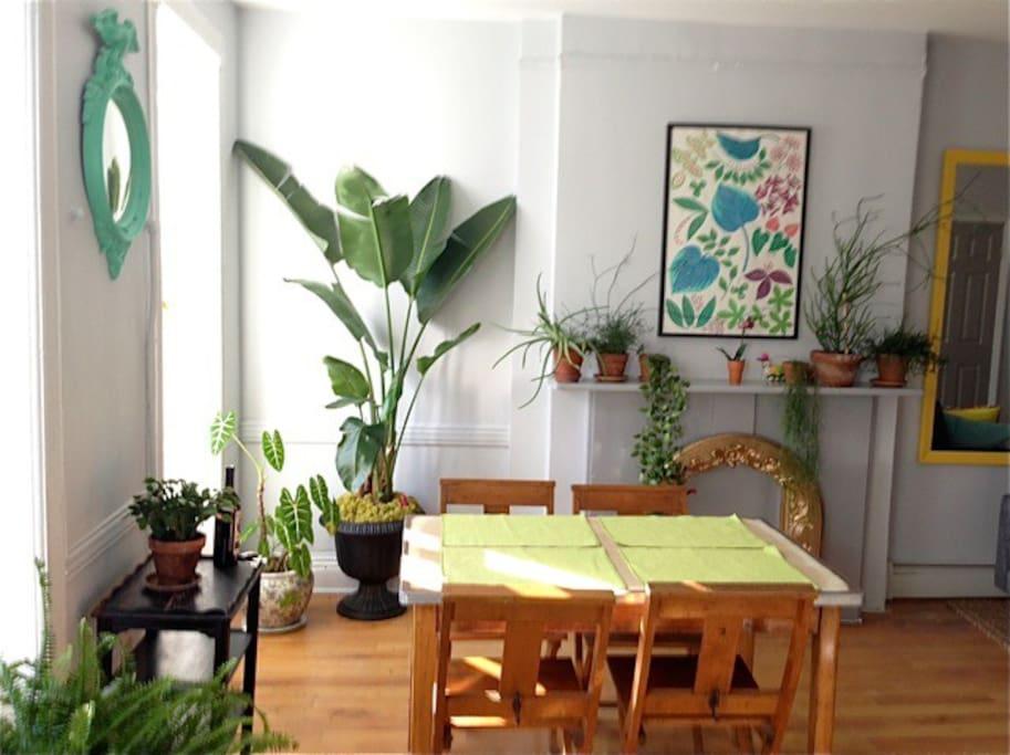 Sun filled dining area