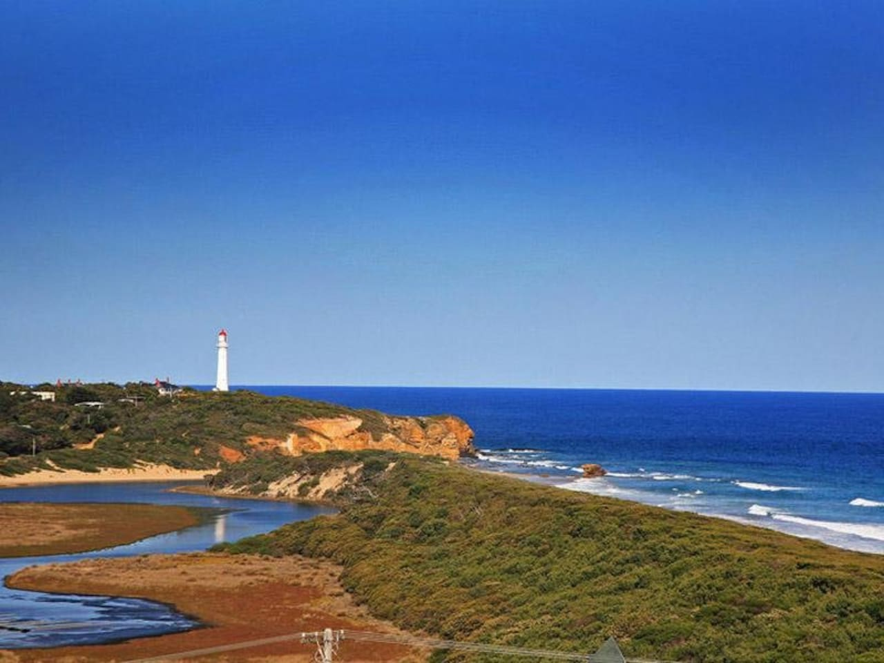 Aireys Inlet viewed from Fairhaven
