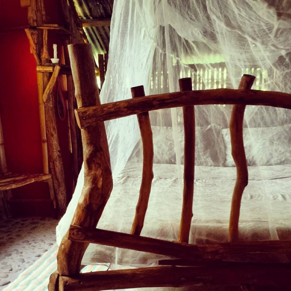 Welcome to The Bamboo House, rootsy, rustic vibes, close to the waterfalls and beach one love