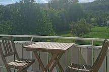 Ruhige Wohnung Nähe Backnang, Blick auf Waldrand