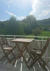 Ruhige Wohnung Nähe Backnang, Blick auf Waldrand - Allmersbach im Tal