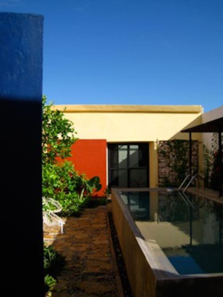 Courtyard and Pool facing Casita