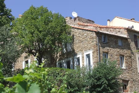 Big holiday home in wine village - Roquebrun - Rumah