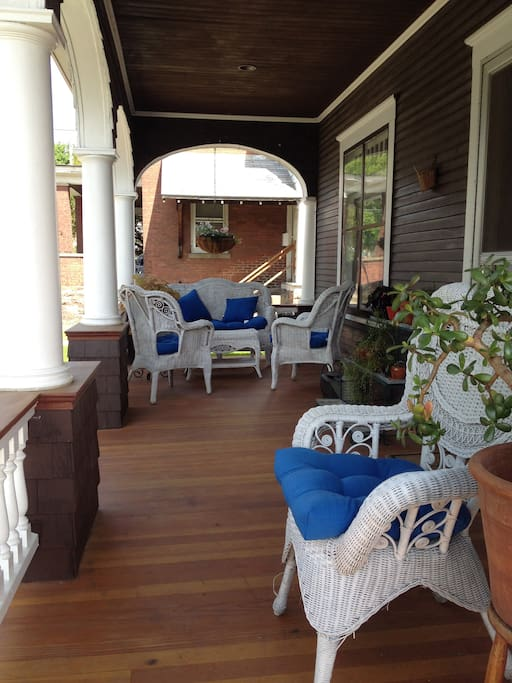 Beautiful front porch for you to enjoy