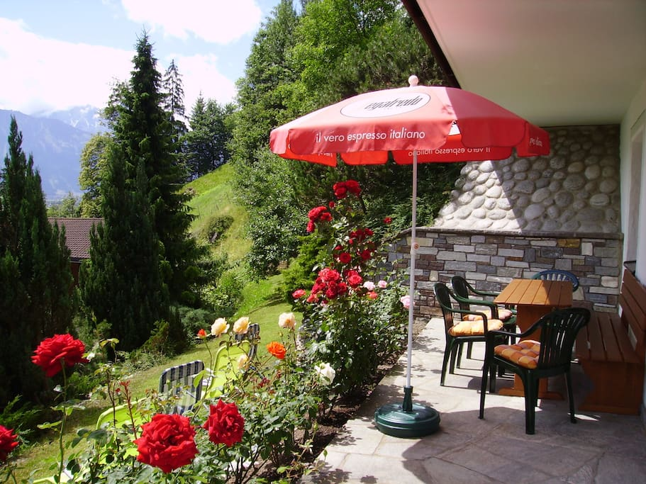 Terrasse mit wunderbarer Aussicht