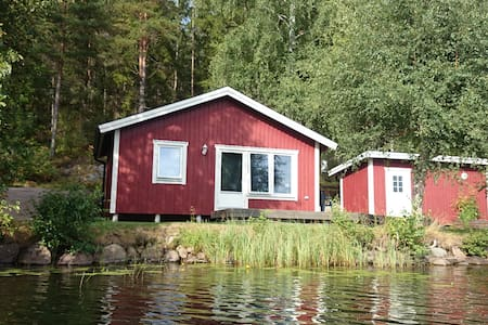 Modern stuga 10 meter från fin badsjö! - Vimmerby