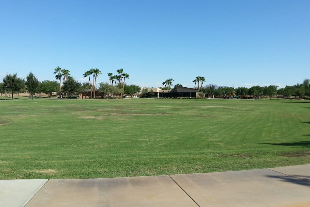Large Grassy Park with Walking Paths