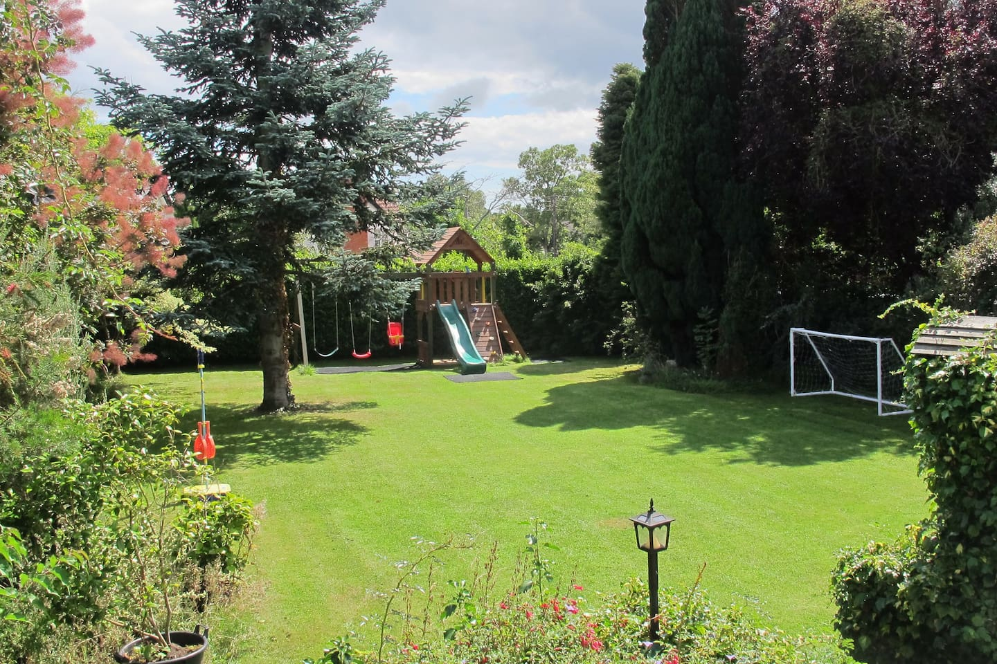 Our sunny and spacious south facing garden.